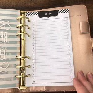 Michael's Recollections Office - Michael's Recollections Planner Rose Gold